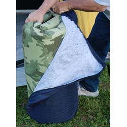 Extra Large Roll N Go Memory Foam Orthopedic Camping
