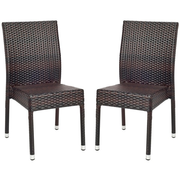 Safavieh Hamptons Bay Wicker Stackable Outdoor Chairs Set