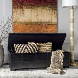 Christopher Knight Home Guernsey Black Bonded Leather