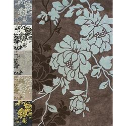 Nuloom Handmade Pino Yarrow Floral Rug 7 6 X 9 6