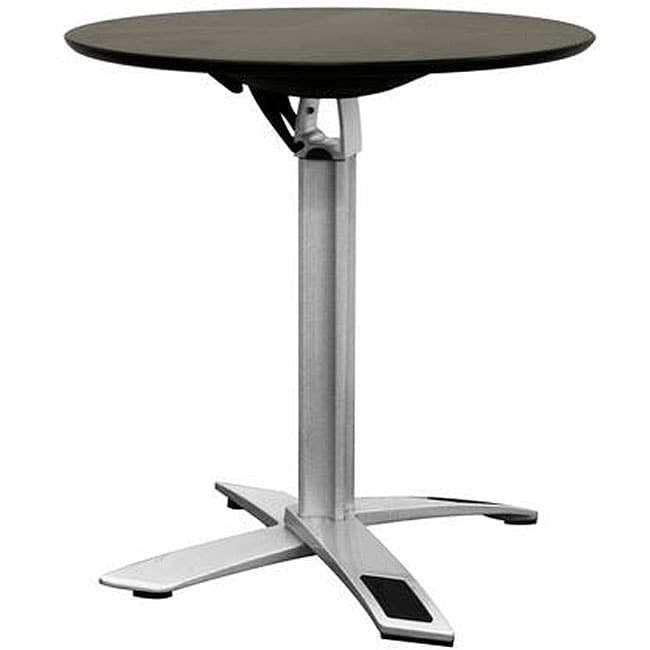 Height Of Coffee Table To Sofa: Baxton Studio Yang Black / Silver Folding Event Table