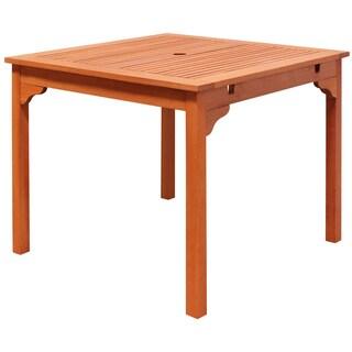 Ibiza Outdoor Eucalyptus Wood Stacking Dining Table