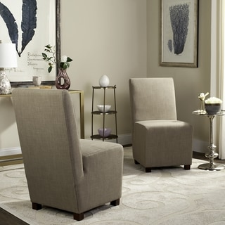 Safavieh Parsons Dining Parsons Stripe Linen Side Chairs