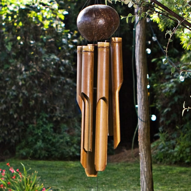 Bamboo Natural Small Wind Chime Handmade In Indonesia