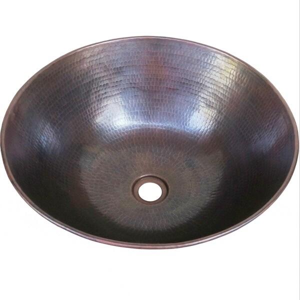 Vintage Dark Solid Copper 13 Inch Vessel Sink 13001233