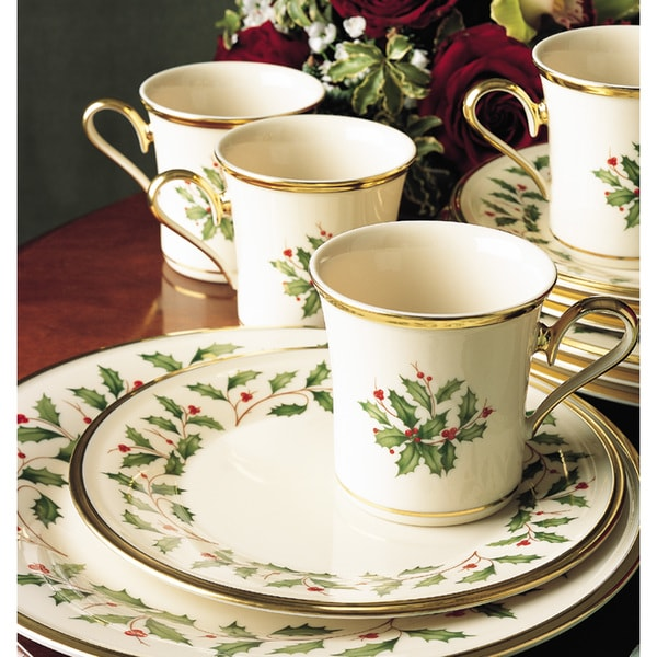 Holiday Place Settings: Lenox Holiday 12-piece Place Settings