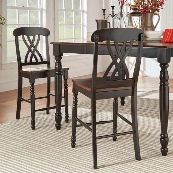 TRIBECCA HOME Mackenzie Counter Height Chair (Set Of 2