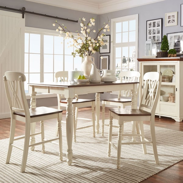 Country Dining Sets: TRIBECCA HOME Mackenzie Counter-height Extending Dining