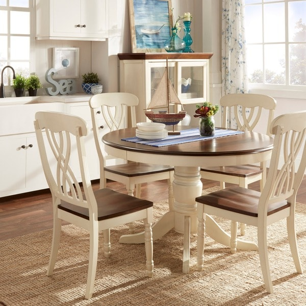 Country Kitchen Table Sets: TRIBECCA HOME Mackenzie 5-piece Country Antique White