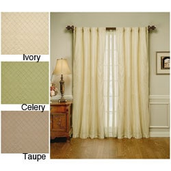 Lightweight Canvas Stripe Curtain Panel Pair 14978833