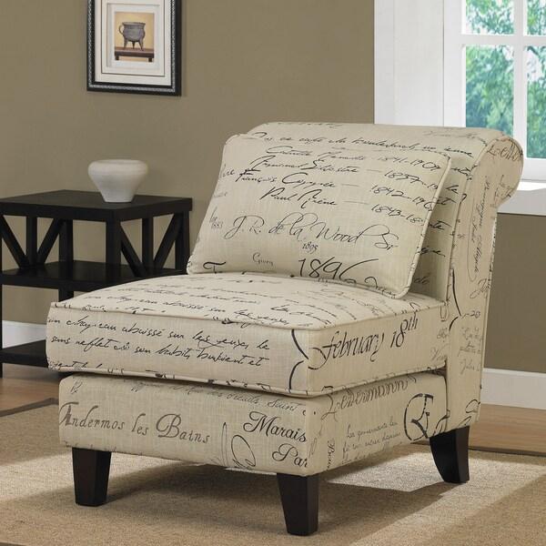 Signature Tan Linen Slipper Chair 13034206 Overstock