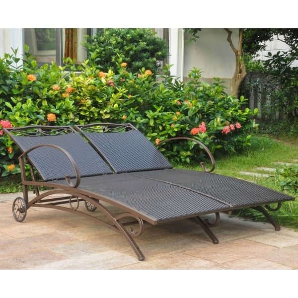 International Caravan Valencia Resin Wicker Steel Frame