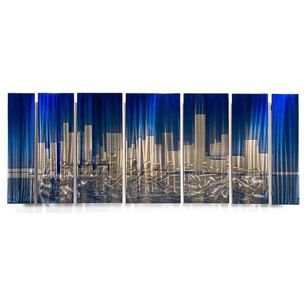 Ash Carl Cityscape Metal Wall Art 13040250 Overstock