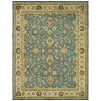 Safavieh Handmade Jaipur Blue/ Beige Wool Rug - 7'6 x 9'6