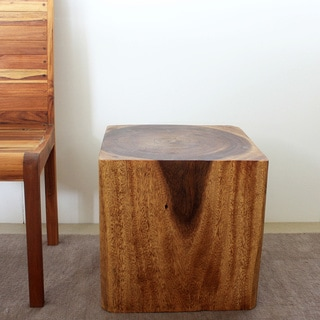 Wooden Cube 18 Walnut Oil End Table Thailand Overstock