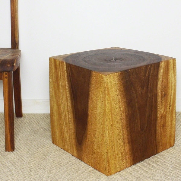 Wooden Cube 18 Walnut Oil End Table Thailand 13051785
