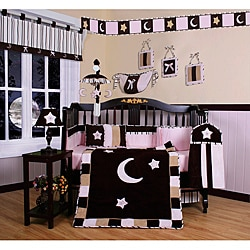 Pink Moon And Star 13 Piece Crib Bedding Set Overstock