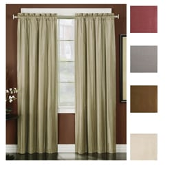 Horizon Embroidered Grommet 95 Inch Window Curtain Panel