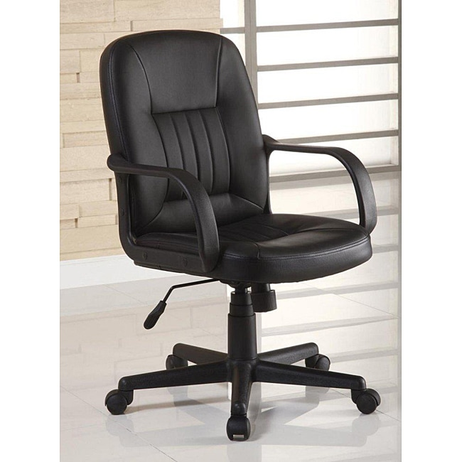 Overstock Office Furniture: Ergonomic Black Leather Executive Office Chair