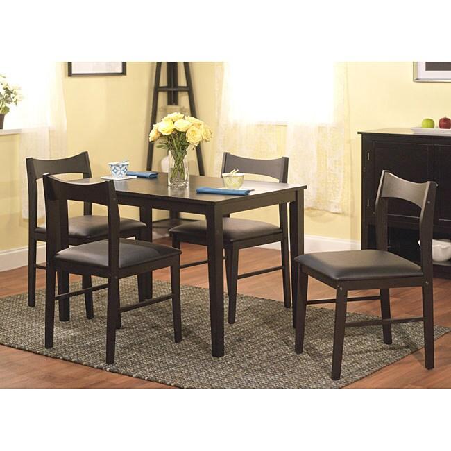 Simple Living Wesley 5-piece Black Dining Set