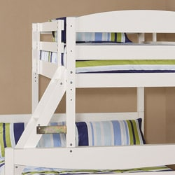 White Wood Twin Double Bunk Bed 13084329 Overstock