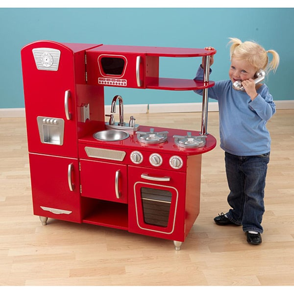 Kidkraft 53173 Red Retro Kitchen Small House Interior Design