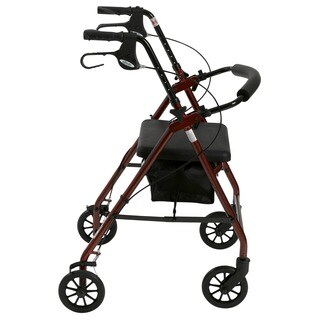 Drive Aluminum Fold Up Removable Back Support and Padded Seat Rollator