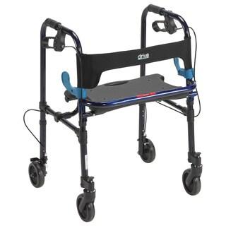Drive Medical Clever Lite Walker Rollator Flame Blue