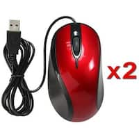 INSTEN USB Optical Scroll Wheel Mouse (Pack of 2)