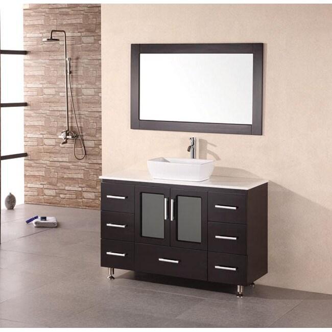 Design Element Stanton 48-inch Espresso Bathroom Vanity ...