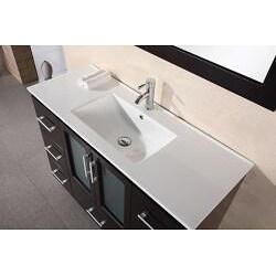 Design Element Stanton 48 Inch Espresso Wood Bathroom