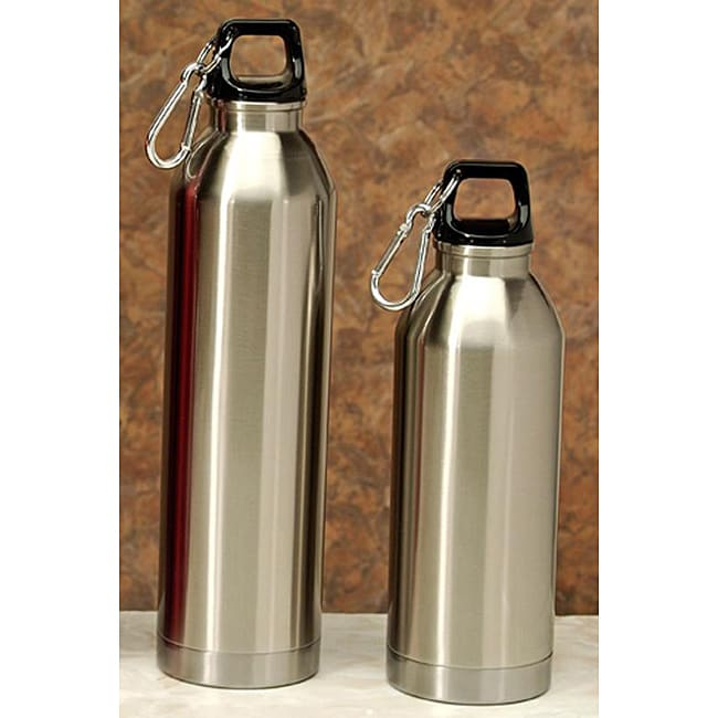 Stainless Steel Water Bottles Pack Of 2 Overstock