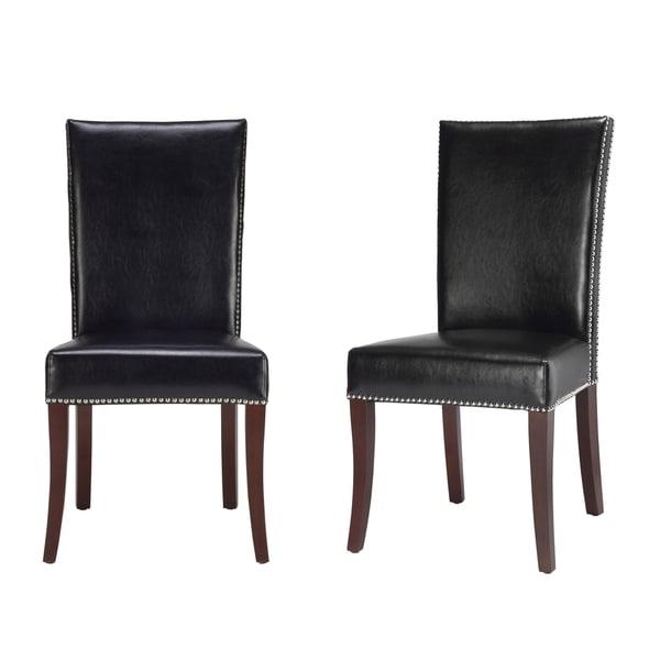 Safavieh En Vogue Dining Metro Leather Black Side Chairs