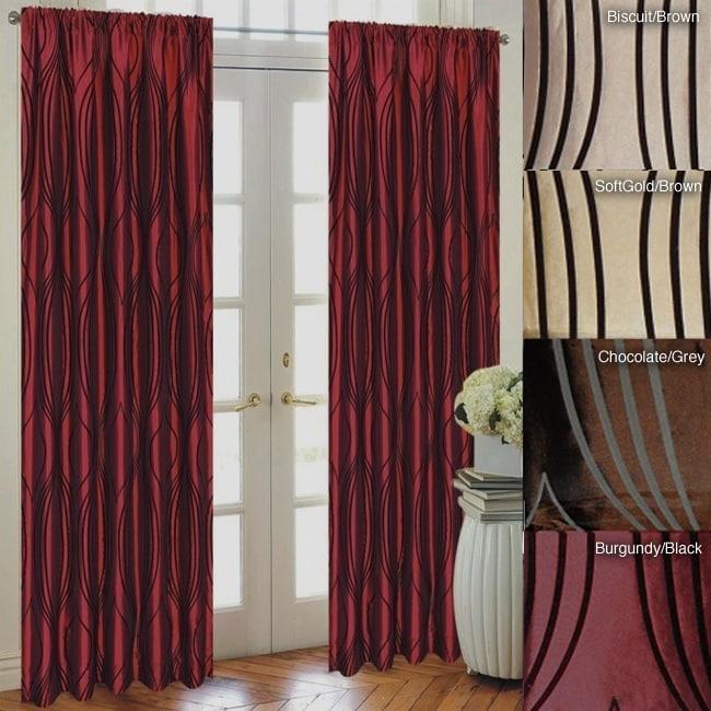 Fusion Flocked Taffeta 96-inch Curtain Panel