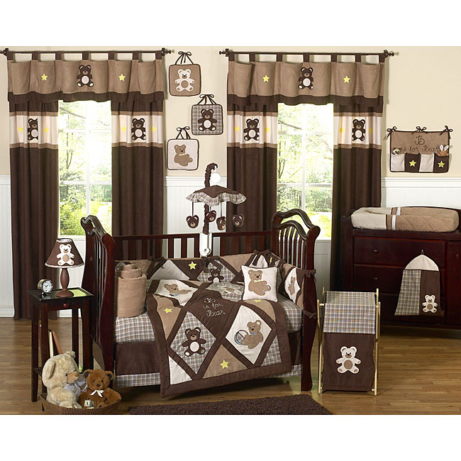 Sweet Jojo Designs Teddy Bear 9 Piece Crib Bedding Set