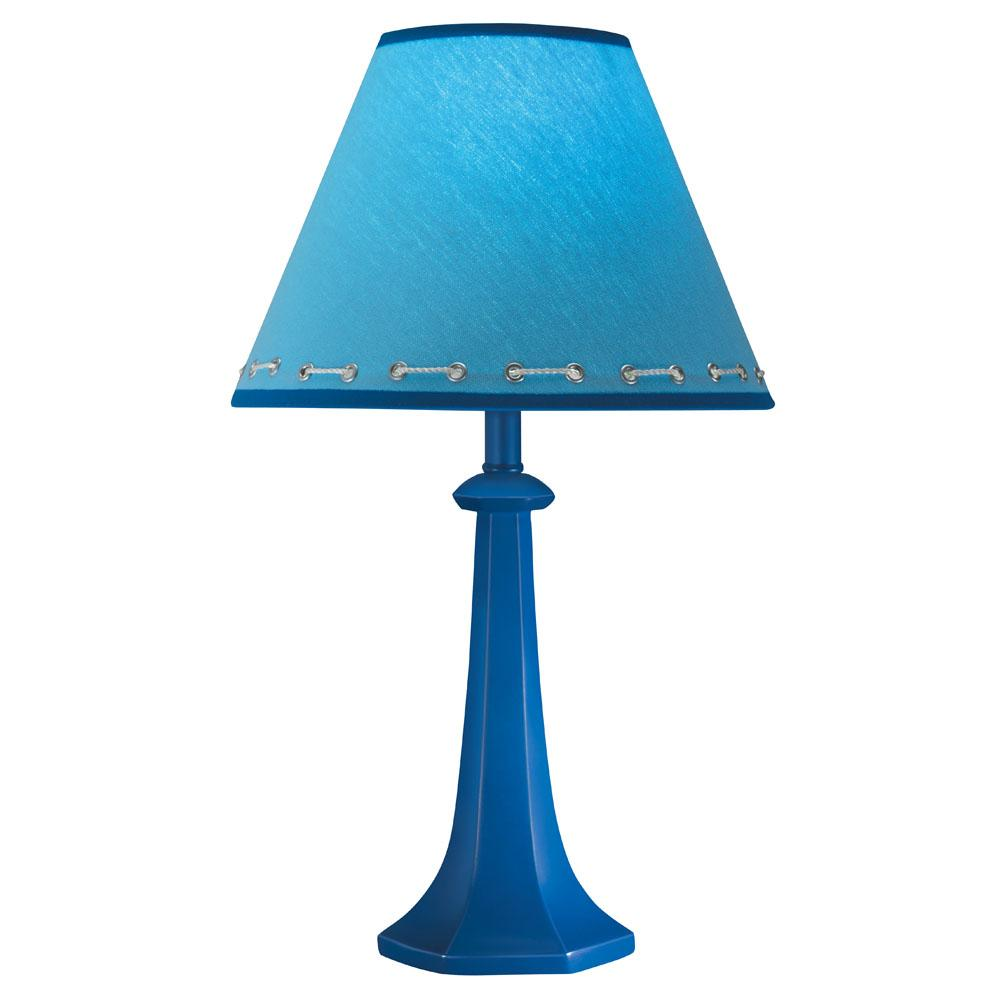 Hardback Shade Cobalt Blue Table Lamp 12359187