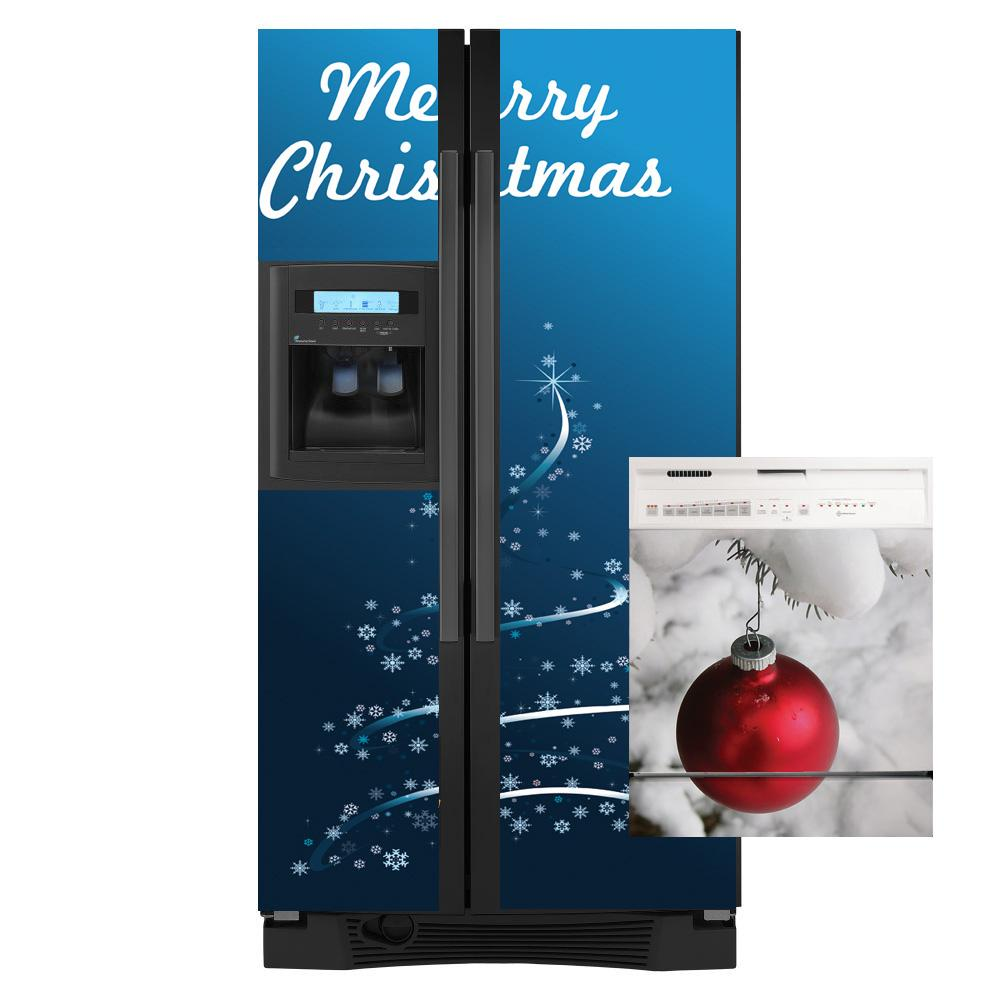 Appliance Art Christmas Tree Combo Refrigerator