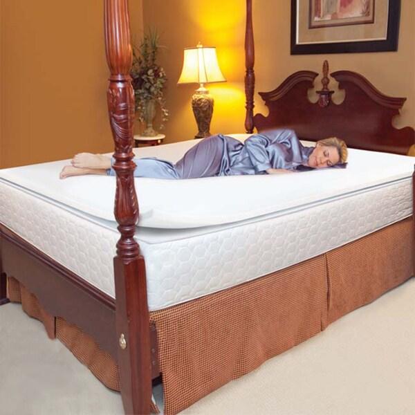 Slumber Solutions 1 Inch Memory Foam Mattress Topper