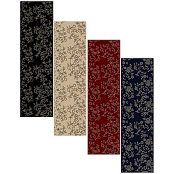 Impressions Black Abstract Area Rug 2 2 X 7 7