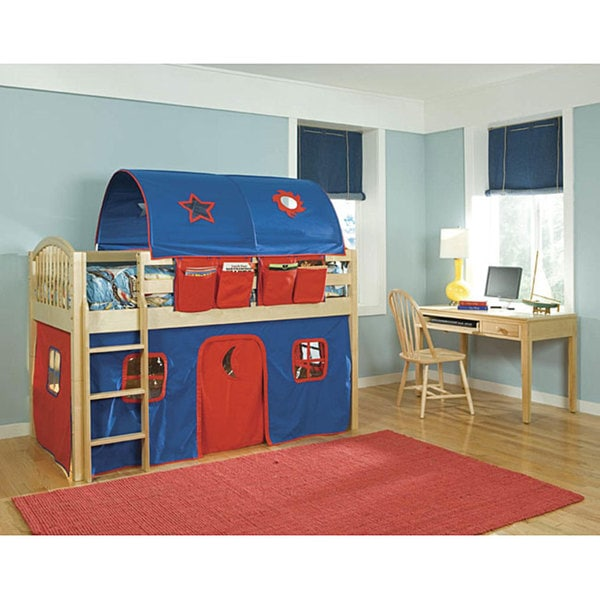 Vp Home Lowell Junior Blue Red Twin Size Loft Tent Bed
