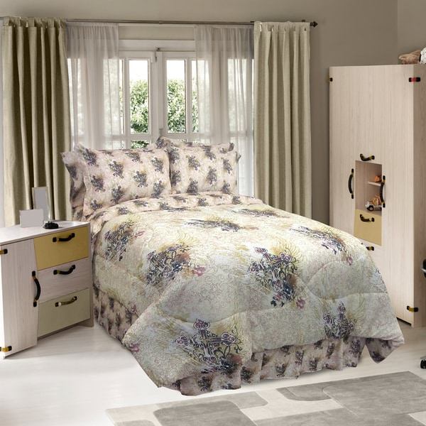 Sheet Street: Street Revival Winged Cross 6-Piece Full-size Bed In A Bag