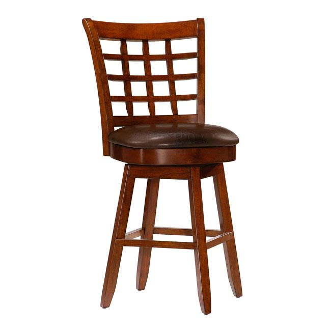Landon 24 Inch Wheat Back Cherry Wood Counter Height Stool