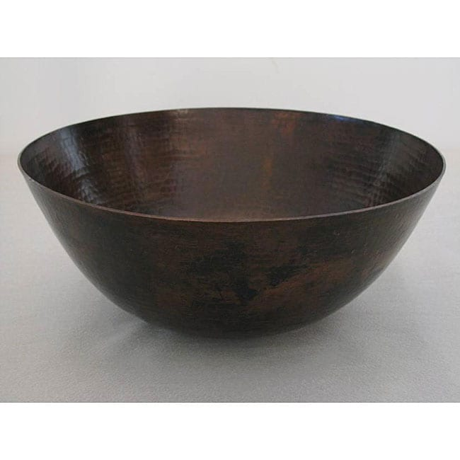 Oil Rubbed Bronze 13 Inch 15 Gauge Copper Vessel Sink