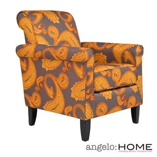 Angelo Home Harlow Desert Sunset Brown Paisley Accent Arm