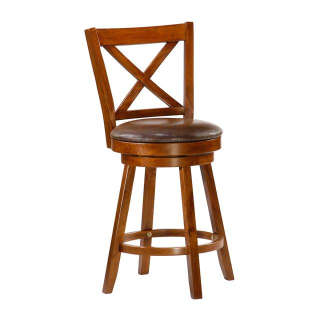 Ryland X Cross Swivel 24 Inch Counter Height Stool