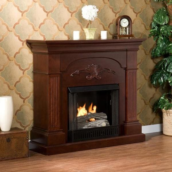 Best Fireplace Mahogany Gel Living Room Heater Home New