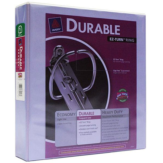 Avery Durable Shades 1.5-inch Ring Purple Binders (Pack Of 6
