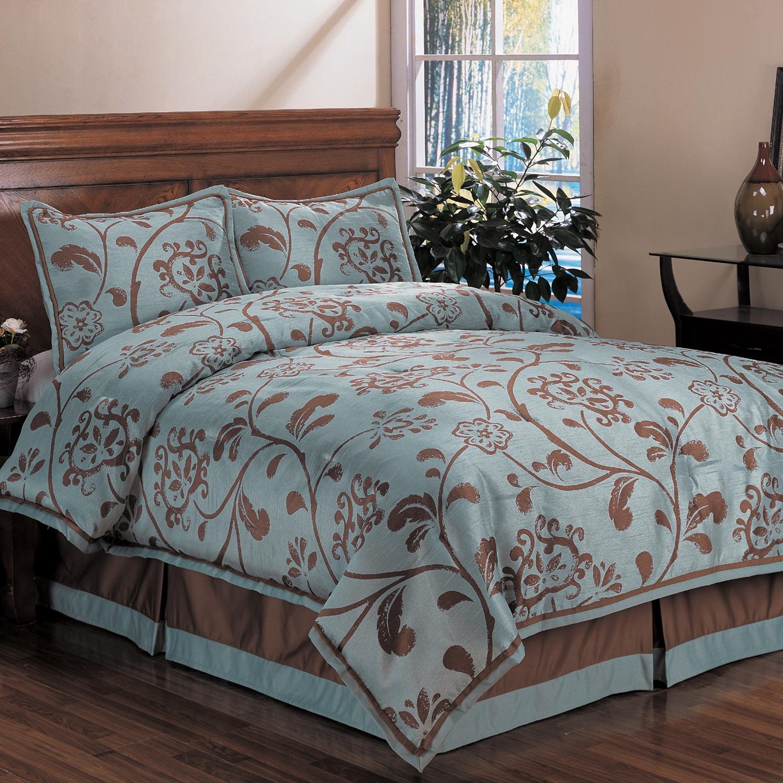 Bella Floral Queen Size 4 Piece Comforter Set 13191627