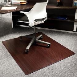 eco bamboo standard rectangular cherry chair mat 42 x 48 13206913 shopping. Black Bedroom Furniture Sets. Home Design Ideas