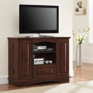 brown wood 42 inch highboy tv stand overstock shopping great deals on walker edison. Black Bedroom Furniture Sets. Home Design Ideas